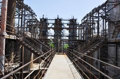 Ένα εγκαταλειμμένο εργοστάσιο αερίου Στοκ φωτογραφίες με δικαίωμα ελεύθερης χρήσης