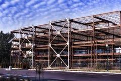 Ένα εγκαταλειμμένο εργοτάξιο οικοδομής μια ηλιόλουστη ημέρα Ολυμπία Ουάσιγκτον Στοκ Εικόνα