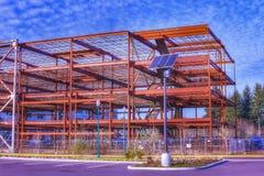 Ένα εγκαταλειμμένο εργοτάξιο οικοδομής μια ηλιόλουστη ημέρα Ολυμπία Ουάσιγκτον Στοκ Εικόνες