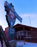 Ένα εγκαταλειμμένο κτήριο στο Ουαϊόμινγκ Στοκ φωτογραφίες με δικαίωμα ελεύθερης χρήσης