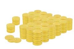 Ένα εκατομμύριο δολάρια στα χρυσά νομίσματα Στοκ Φωτογραφία