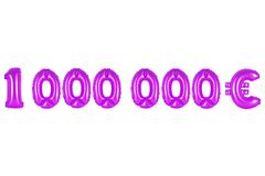 Ένα εκατομμύριο ευρώ, πορφυρό χρώμα Στοκ φωτογραφία με δικαίωμα ελεύθερης χρήσης