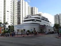 Ένα εμπορικό κέντρο υπό μορφή σκάφους στις οδούς Whampoa στοκ εικόνες