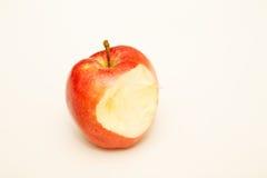Η κόκκινη Apple με να λείψει δαγκωμάτων Στοκ Εικόνες