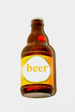 Ένα ενιαίο μπουκάλι μπύρας Στοκ Εικόνες