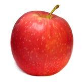 Ένα ενιαίο ώριμο κόκκινο μήλο που απομονώνεται σε ένα άσπρο υπόβαθρο Στοκ Εικόνες