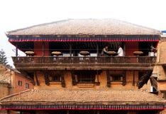 Ένα εστιατόριο Bhaktapur, Νεπάλ Στοκ Εικόνες