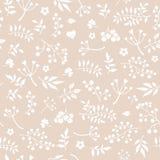Ένα ευγενές εκλεκτής ποιότητας άνευ ραφής handdrawn floral υπόβαθρο στοκ εικόνα