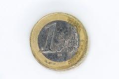 Ένα ευρο- νόμισμα στοκ φωτογραφίες