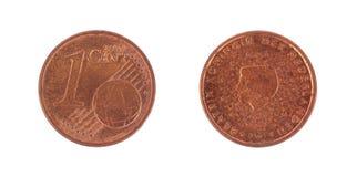 Ένα ευρο- νόμισμα σεντ Στοκ εικόνα με δικαίωμα ελεύθερης χρήσης