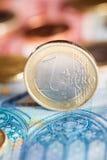 Ένα ευρο- νόμισμα Στοκ φωτογραφία με δικαίωμα ελεύθερης χρήσης