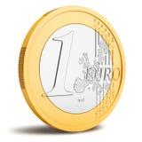 Ένα ευρο- νόμισμα ελεύθερη απεικόνιση δικαιώματος