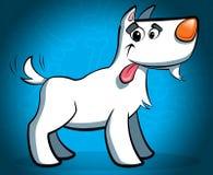 Ευτυχές άσπρο σκυλί Στοκ Εικόνα