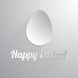 Ένα ευτυχές αυγό Πάσχας εγγράφου απεικόνιση αποθεμάτων