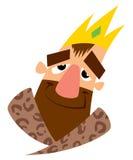 Πρόσωπο του ευτυχούς βασιλιά κινούμενων σχεδίων Στοκ φωτογραφία με δικαίωμα ελεύθερης χρήσης