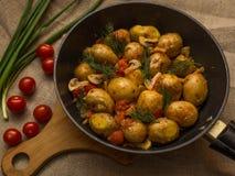 Ένα εύγευστο χορτοφάγο μεσημεριανό γεύμα έκανε από τα λαχανικά στοκ φωτογραφία