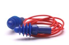 Ένα ζευγάρι της πορφυρής σιλικόνης earplugs στοκ φωτογραφίες με δικαίωμα ελεύθερης χρήσης