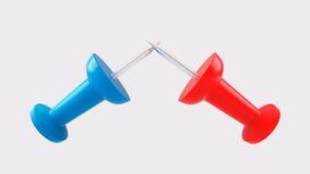 Ένα ζευγάρι των πινεζών Dueling διανυσματική απεικόνιση