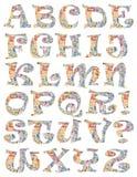 Ένα ζωηρόχρωμο αλφάβητο στοκ εικόνα