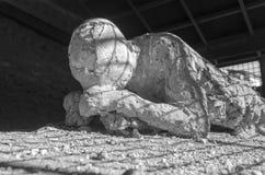 Ένα θύμα στην Πομπηία της έκρηξης όρους Βεζουβίου Στοκ φωτογραφία με δικαίωμα ελεύθερης χρήσης