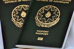 Ένα διαβατήριο του Αζερμπαϊτζάν Στοκ Εικόνα