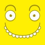 Ένα διανυσματικό χαριτωμένο κίτρινο ευτυχές πρόσωπο κινούμενων σχεδίων Στοκ φωτογραφία με δικαίωμα ελεύθερης χρήσης