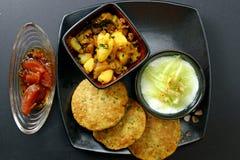 Ένα ινδικό γεύμα Στοκ Εικόνα