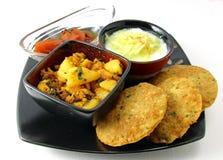 Ένα ινδικό γεύμα Στοκ εικόνες με δικαίωμα ελεύθερης χρήσης