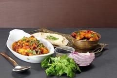 Ένα ινδικό χορτοφάγο γεύμα Στοκ Εικόνα