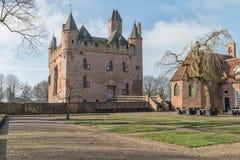 Ένα κάστρο στις ανατολικά Κάτω Χώρες Στοκ Εικόνες
