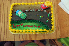 Ένα κέικ γενεθλίων Στοκ φωτογραφία με δικαίωμα ελεύθερης χρήσης