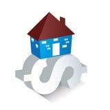 Ένα καθιερώνον τη μόδα γραφικό δάνειο κατοικίας απεικόνισης Στοκ φωτογραφία με δικαίωμα ελεύθερης χρήσης
