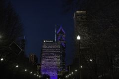 Ένα και δύο συνετό Plaza στο στο κέντρο της πόλης Σικάγο Στοκ φωτογραφίες με δικαίωμα ελεύθερης χρήσης