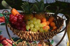 Ένα καλάθι των φρούτων και λαχανικών Στοκ εικόνα με δικαίωμα ελεύθερης χρήσης