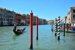 Ένα κανάλι ελών στη Βενετία Στοκ φωτογραφία με δικαίωμα ελεύθερης χρήσης