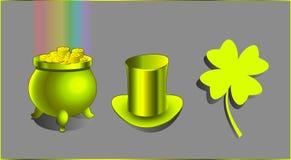 Ένα καπέλο, ένας θησαυρός και μια τυχερή γοητεία Στοκ εικόνες με δικαίωμα ελεύθερης χρήσης