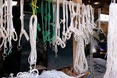 Ένα κατάστημα σχοινιών στοκ φωτογραφίες