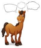 Ένα καφετί άλογο ελεύθερη απεικόνιση δικαιώματος