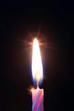 Ένα κερί στα γενέθλια Στοκ φωτογραφία με δικαίωμα ελεύθερης χρήσης