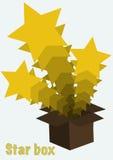 Ένα κιβώτιο με τα αστέρια Στοκ φωτογραφίες με δικαίωμα ελεύθερης χρήσης