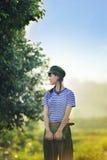 Ένα κινεζικό κορίτσι σε ομοιόμορφο Στοκ Εικόνες