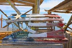 Ένα κλουβί αστακών από ένα εστιατόριο στοκ φωτογραφία με δικαίωμα ελεύθερης χρήσης