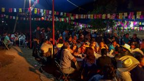 Ένα κοινοτικό γεύμα στο Calenda SAN Pedro σε Oaxaca Στοκ Εικόνα