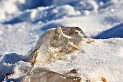 Ένα κομμάτι του πάγου Στοκ Φωτογραφία