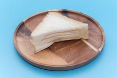Ένα κομμάτι του σάντουιτς ζαμπόν Στοκ εικόνα με δικαίωμα ελεύθερης χρήσης