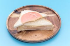 Ένα κομμάτι του σάντουιτς ζαμπόν Στοκ εικόνες με δικαίωμα ελεύθερης χρήσης