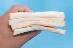 Ένα κομμάτι του σάντουιτς ζαμπόν Στοκ Φωτογραφία
