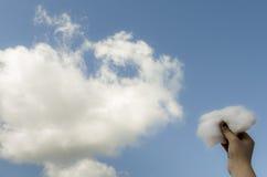 Ένα κομμάτι του σύννεφου Στοκ Εικόνες