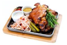 Ένα κομμάτι του τηγανισμένου κρέατος Στοκ φωτογραφία με δικαίωμα ελεύθερης χρήσης