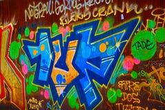 Ένα κομμάτι των γκράφιτι που βρίσκεται κοντά στο πάρκο Retiro Στοκ Εικόνα